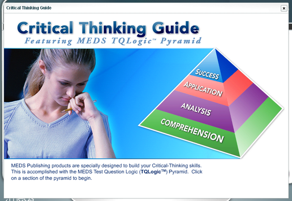 ati critical thinking assessment profile Individual performance profile rn mental health 2010 clinical judgment/critical thinking in nursing sample from the ati data pool) for this assessment.